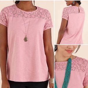 MATILDA JANE | Pink Lory Lace Embroidered Blouse